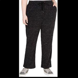 Ideology Wide Leg Sweatpants Black Size 2X